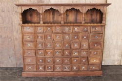 A rare Apothecary Chest in Teak, South India circa 1900 <b>SOLD<b>